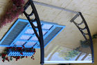 Waterproof Polycarbonate Patio Canopy , PC Door Canopy Awning Ain Shelter