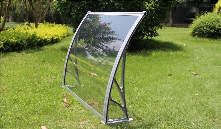 Windproof Polycarbonate Garden Canopy , Door Entry Rain Cover Long Life Span