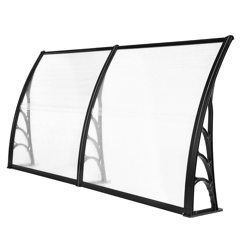 Windproof Robot Mower Garage , Glass Door Canopy Awning Rain Shelter